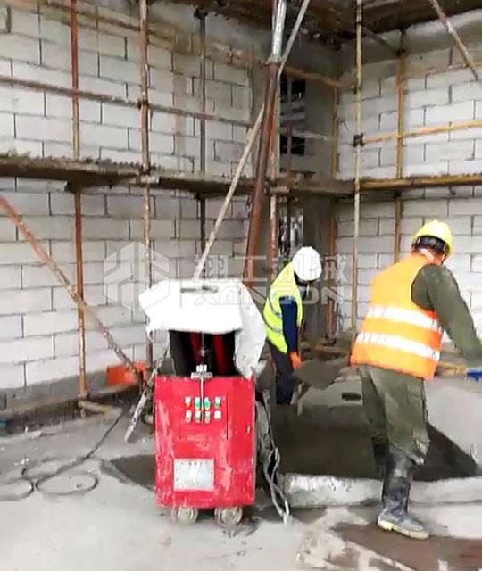 二次结构浇筑泵是楼房建筑的好帮手
