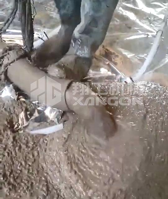 只要料跟得上,翔工二次结构浇筑泵就能开挂