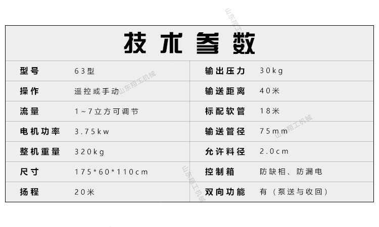 3.75kw微型二次结构浇筑泵